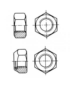 Παξιμάδι εξάγωνο Φ 5 mm INOX 316 DIN 934, σακούλα