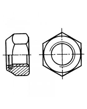 Παξιμάδι ασφαλείας εξάγωνο Φ 4 mm Inox 316 DIN 985 / ISO 10511