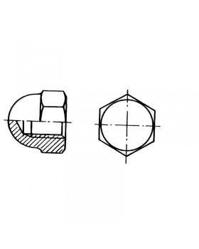 Παξιμάδι τυφλό εξάγωνο Φ 3 mm Inox 316 DIN 1587