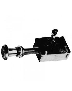 Διακόπτης push pull on/off, 3 θέσεων, 12V, 20A, Διαμ. 9.5mm, L.97mm