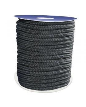 Σχοινί Πρόσδεσης 16-Kλωνο Διπλής Πλέξης, 16mm, Polyester, μαύρο