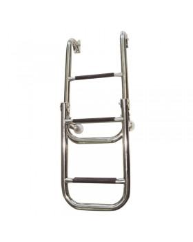 Σκάλα, αναδιπλώμενη, 2+2 σκαλοπάτια, Inox 316, 280x1060mm