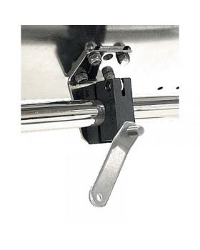 Μονή οριζόντια βάση στήριξης για ρέλια διαστάσεων 22-25mm