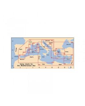 Πλοηγικός Χάρτης Ανατολικής Μεσογείου M22,``Από τη Αίγυπτο στο Ισραήλ, το Λίβανο και την Κύπρο``,Im