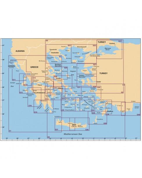Πλοηγικός Χάρτης Ελλάδος G34, ``Νότιοανατολικές Κυκλάδες``, Imray
