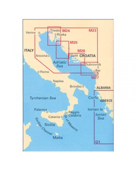 Πλοηγικός Χάρτης Κροατίας M26(Μ234), ``Split - Dubrovnik``, Imray