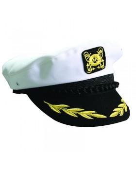 Καπέλο Καπετάνιου, βαμβακερό, άσπρο, medium (μέγεθος 57)