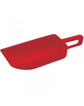 Κουτάλα/Σέσουλα Σκληρή Κόκκινη, 365x110 mm (ΜxΠ)