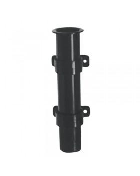 Βάση Καλαμιού,Πλαστ. Βιδωτή Ø40mm H.225mm, Μαύρη