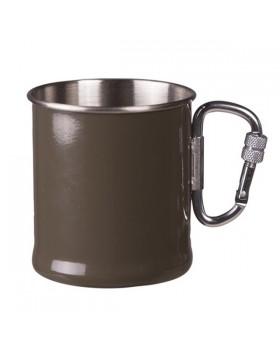Mil Tec Ανοξείδωτο Ποτήρι με Καραμπίνερ 250 ml