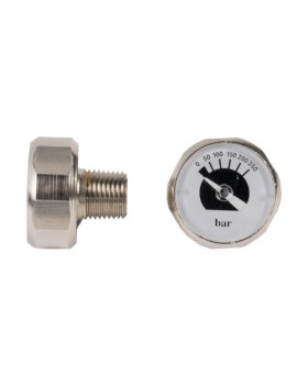 Μανόμετρο 0-250 Bar 1/8 Bsp