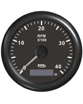 Στροφόμετρο 4000RPM+Ψηφιακό Ωρόμετρο-Kus