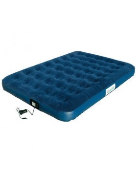 Campus Double Airbed 220v Pump 190x135x22cm