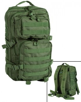 Mil-Tec-Σάκος Πλάτης Assault LG Tactical 36 Λίτρων - Χακί