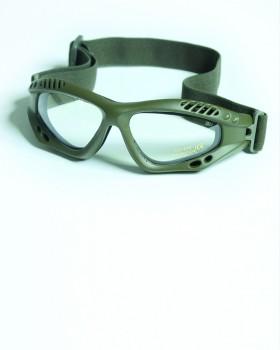 "Mil-Tec-Γυαλιά Ασφαλείας Αρματιστή ""AIR COMMANDO PRO"" - Χακί ~ Διαφανή"