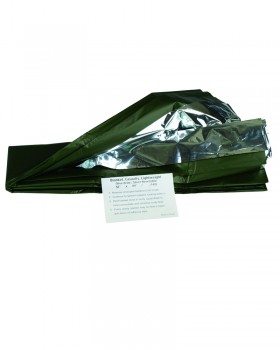 Mil-Tec-Κουβέρτα Επιβίωσης - Ασημί / Χακί