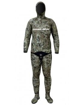Must Dive Στολή Φόδρα/Ξυρισμένο 5.5mm-Camo Green