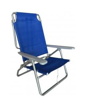 Καρέκλα Παραλίας Μεταλλική Campus Με Ρυθμιζόμενους Ιμάντες