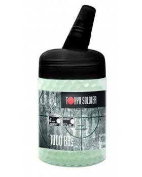 Βλήματα Airsoft bbs 6mm 0.28gr Tokyo Soldier glass