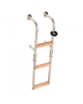 Σκάλα Ανοξείδωτη Αναδιπλούμενη Καθρέπτου Με 3 Σκαλοπάτια