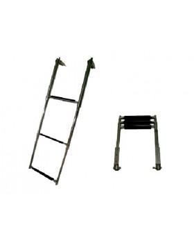 Σκάλα Ανοξείδωτη Πτυσσόμενη Πλατφόρμας Με 3 Σκαλοπάτια