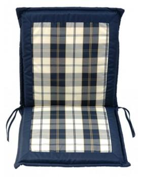 Μαξιλάρι Για Καρέκλα Με Ψηλή Πλάτη 2 Όψεων  Μπλε Καρώ