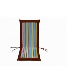 Μαξιλάρι Για Καρέκλα Με Ψηλή Πλάτη 2 Όψεων  Ριγέ-Μπορντώ