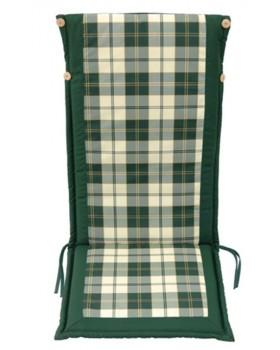 Μαξιλάρι Για Καρέκλα Με Ψηλή Πλάτη 2 Όψεων  Πράσινο Καρώ