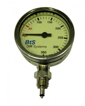 Bts Dive Systems-Μανόμετρο χωρίς σωλήνα 52mm 360 bar για οξυγόνο