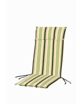 Μαξιλάρι Για Καρέκλα Με Ψηλή Πλάτη 2 Όψεων Ριγέ Λαχανί