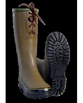 Γαλότσα Γονάτου Tigar Canada Με Επένδυση Γούνα 91568 Λαδί