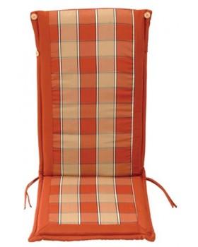 Μαξιλάρι Για Καρέκλα Με Ψηλή Πλάτη 2 Όψεων  Κεραμιδι Καρώ