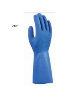 Γάντια Dispan Με Επίστρωση Καουτσούκ Μπλέ 790P