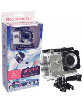 Waterproof Sports Action Camera With Accessories Wide Angle View HD 1080P Action Cam
