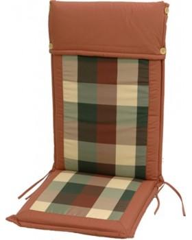 Μαξιλάρι Για Καρέκλα Με Ψηλή Πλάτη 2 Όψεων Καρώ