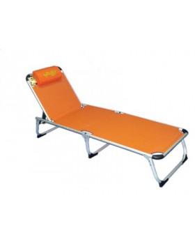 Ξαπλώστρα Αλουμινίου με Text 2x1  Πορτοκαλί