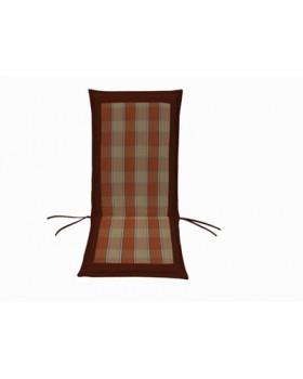 Μαξιλάρι Για Καρέκλα Με Ψηλή Πλάτη 2 Όψεων  Καρώ Κεραμιδί-Μπορντώ