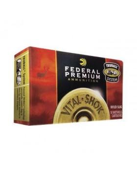 FEDERAL VITAL SHOK 12/70 TRUBALL HOLLOW POINT RIFLED SLUG -1OZ(PB127RS)