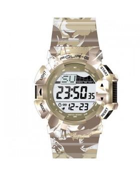 Ρολόι με ψηφιακή ώρα FOURG 332G Μπέζ
