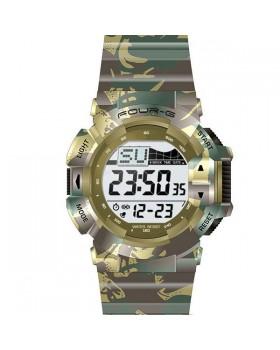 Ρολόι με ψηφιακή ώρα FOURG 332G Πράσινο