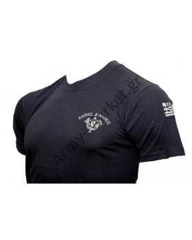 Μπλουζάκι Κέντημα Ειδικές Δυνάμεις Τολμων Νικά Σημαία Χ GF