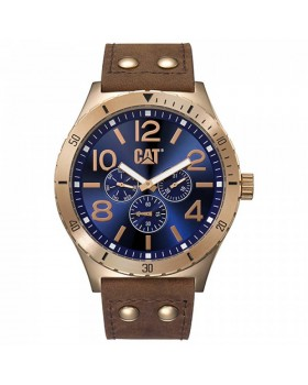 Ρολόι Ανδρικό Caterpillar CAMDEN Blue/Rose Gold - Brown Leather NI.199.35.639