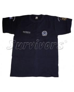 Μπλουζάκι μακό με κέντημα Σωφρονιστική/ ΥΕΦΚΚ