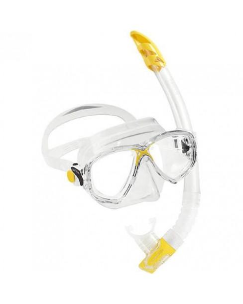 Cressi Μάσκα+Αναπνευστήρας Marea Vip Junior (Κίτρινο)