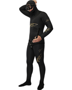 Xt Diving Pro-Στολή Φόδρα/Ξυρισμένο 7.0mm-Black Lycra