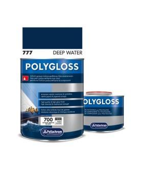 Pollygloss 777 Deep Water A+B 750ml Χρώμα Πλυουρεθάνης Σκουρο Μπλε