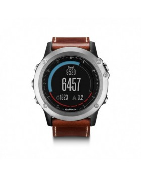 Garmin Fenix 3 Sapphire Silver with Leather Band