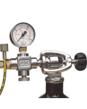 Din Σύστημα Πλήρωσης A-Clamp Με Μανόμετρο,Βαλβίδα Αποσυμπίεσης Και Σωληνάκι 30 εκ.