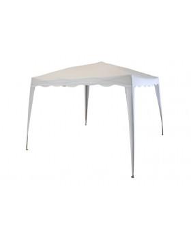 Κιόσκι Polyester Πτυσσόμενο Λευκό 3x3m