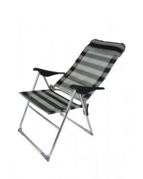 Panda-Καρέκλα Αλουμινίου Ψηλή Ανακλινόμενη